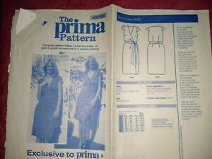 PRIMA DRESS SEWING PATTERN SIZES 10-20 NEW - AUGUST 2005