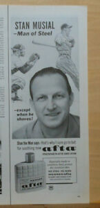 1964 magazine ad for Mennen Afta after shave - Stan Musial St. Louis Cardinals