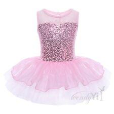 Kids Girls Dance Leotard Dress Stretch Bodysuit Ballet Training Costume Clothes