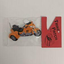 New Honda Goldwing Trike Iron On Patch Embroidered Orange Motorcycle