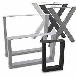 BITUXX Tischbeine Tischkufen Tischgestell Tischuntergestell Stahl Metall Eckig