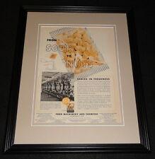 1951 Food Machinery & Chemical Framed 11x14 ORIGINAL Vintage Advertisement