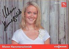 Autogramm AK  Maren hammerschmidt Biathlon mehrfach 2.im Weltcup 2015/2016 Viess