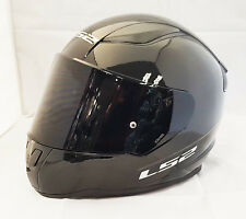 LS2 FF353 RAPID FULL FACE MOTORCYCLE HELMET GLOSS BLACK WITH DARK TINTED VISOR