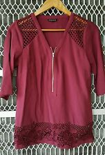Warehouse top with lace fit size 8 to small 10 excellent condition