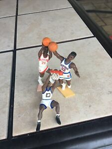 Lot Of 3 Vintage Plastic NBA 1988, 92, 95 Figurines In Very Good Condition