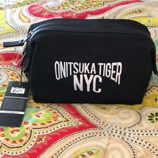 New Onitsuka Tiger Nyc embroidered Beauty Case black sample one of a kind