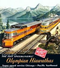Route of the Eagles Texas Pacific vintage Railroad poster repro 16x20