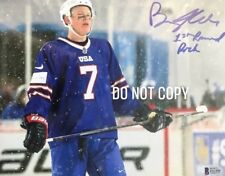 Brady Tkachuk SIGNED Team USA Beckett Certified  8x10 PHOTOGRAPH
