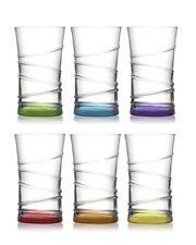 Coral Trinkgläser / farbige Wassergläser - 6-tlg. Retro Gläser Set / 350 ml