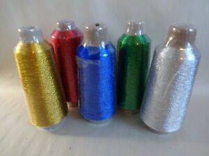 "Rod Building Wrapping Solid Colored 4oz spools Metallic winding thread Size ""D"""
