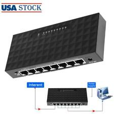 8 Port 10/100Mbps POE Ethernet Network Switch Lan Hub Power Supply Smart Switch