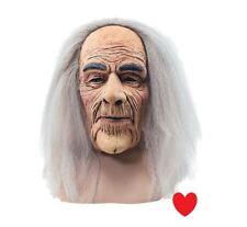 old man grey hair wig latex mask grandpa grandad halloween