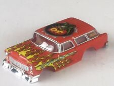 Xtraction Red Rat Fink 55 Nomad HO Slot Car Body Fit Old Aurora AFX Mag Traction