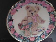 Franklin Mint  TEDDY CELEBRATES SPRINGTIME  Teddy Bear Ltd Ed Plate