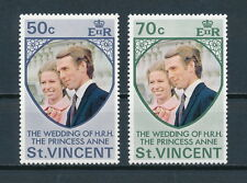 St.Vincent #358-9 MNH, Royal Wedding, 1973