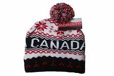 CANADA COLORED ORNAMENTAL RED SNOWFLAKE DESIGN TOQUE HAT ..NEW