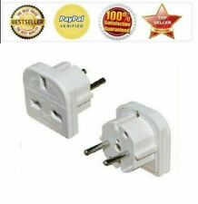 UK to EU Europe Power Adaptor Plug Converter Travel Adapter European 2 Pin VIP