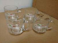Four Vintage Maxwell House glass cappuccino coffee mugs