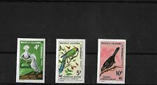 NEW CALEDONIA 1967 BIRDS IMPERFORATE PROOFS, MNH, SG408/10