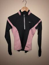 NIKE Women's Athletic Pullover 3/4 Zip Grey And Pink Size XS