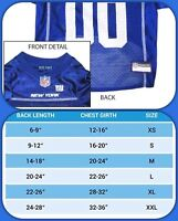 🐶Extra Small NFL Pet Fan Gear NEW YORK GIANTS for Dog (Brand New)🐶
