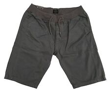 MENS S & J ELASTICATED WAIST CHINO SHORTS BY CROSSHATCH DIAULOS - CHARCOAL GREY