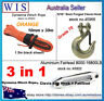 10mm x 30m Orange Synthetic Winch Rope&Aluminum Hawse Fairlead & G70 Clevis Hook
