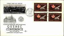 1964 CANADA 1. Day of Issue Cover FDC Ersttagsbrief Stamps Quebec Conference