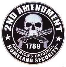 JUMBO EMBROIDERED 2ND AMENDMENT JBP058 9 INCHES sew iron back law guns america