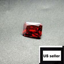 1x Unheated Dazzling 9.08ct Red Sapphire 10X14MM Diamond Emerald Loose Gemstone