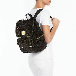 Juicy Couture, Black - Backpack Sequinced, Pailette Velour, Accents, NWT