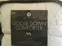 Hotel Collection GOOSE DOWN COMFORTER Medium Weight Full Queen RETAIL $800