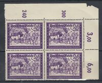 Germany 1941 24 + 36 Postal Workers Control Margin Block Of 4 MNH J8702