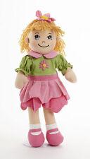 """Sweet Delton Apple Dumplin Petal Cloth Doll in Pink & Green Dress, 14"""" 4191-9"""