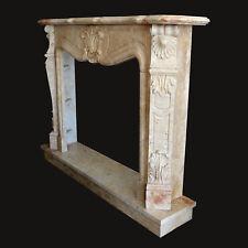 Camino Travertino Cornice Stile Barocco Classico Travertine Frame for Fireplace