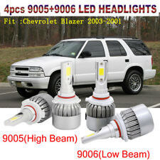 4x 9006+9005 15200LM LED Hi/Lo Beam Headlight Kit For Chevrolet Blazer 2003-2001