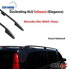 Dachreling ALU Schwarz Vito Viano W639 W447 Kurzer Radstand Elegance