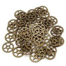 50pcs Vintage Steampunk Gear Necklace Pendant Charm DIY Jewelry Making