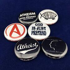 """ANTI-RELIGIOUS 1"""" buttons badges Atheism Atheist Jesus God Religion"""