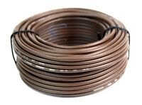 Audiopipe 50' Feet 16 Gauge Brown Primary Remote Wire Car Auto Power Cable LED
