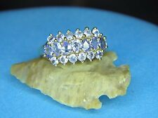 Beautiful Tanzanite Ring 14K Solid Yellow Gold Genuine Tanzanite Sz 8.25 Beauty