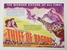 THE THIEF OF BAGDAD - Vintage 1940 Technicolor Fantasy Film SABU Movie Herald