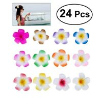 24Pc Women Plumeria Flower Hair Clip Accessories Barrette Hawaiian Wedding Party