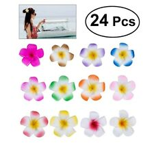24Pc Women Plumeria Flower Hair Clip Accessories Barrette Hawaiian Wedding Party