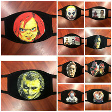 100% cotton SOFT Mask Reusable & Washable HORROR CHUCKY FREDDY JASON for cycling