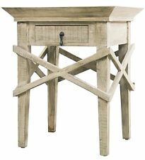 """30"""" T Set of 2 Alivia Side Table Hand Crafted Reclaimed Douglas Fir Criss Cross"""