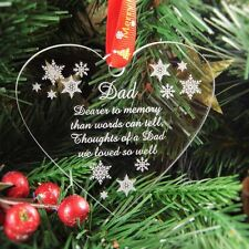 Personalised Christmas Bauble Tree Decoration Rememberence - In Memory of Dad