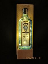 'LET THE EVENING BE GIN' Recycled decorative Bombay Sapphire Gin Wall lamp 4.5V
