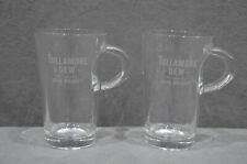 2x Tullamore Dew Irish Whisky Cold Brew Coffee Or Tea Glass Tumbler With Handle